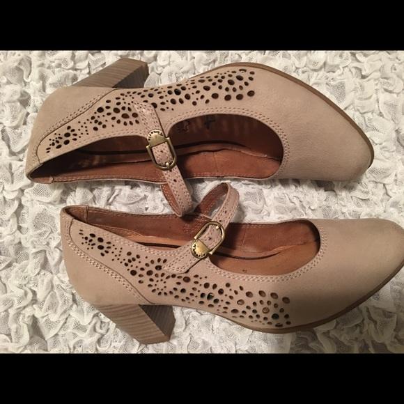 a5d7cf9e272b4 Tamaris Mary Jane Leather Heels Pumps 36 5
